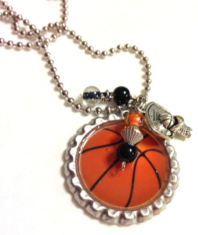 sale basketball necklace basketball bottlecap necklace