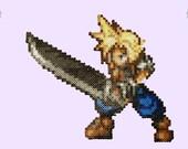 Final Fantasy Cloud Perler Magnet! featured image