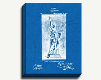 Canvas Patent Art - Statue of Liberty Gallery Wrapped Canvas Print