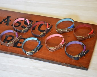 Hand Made Leather Safety Collar for your Cat