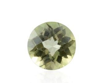 Mystic Green Topaz Loose Gemstone Round Cut 1A Quality 8mm TGW 2.05 cts.