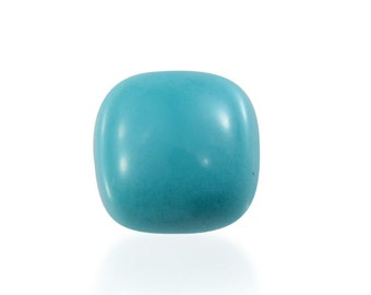 Sleeping Beauty Turquoise Cushion Cabochon Loose Gemstone 1A Quality 4mm TGW 0.20 cts.