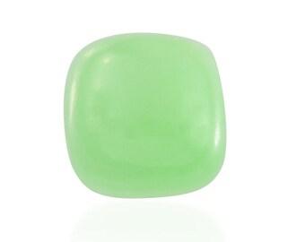Green Jade Dyed Cushion Cabochon Loose Gemstone 1A Quality 9mm TGW 3.60 cts.