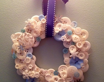 Winter Wonderland Button Wreath