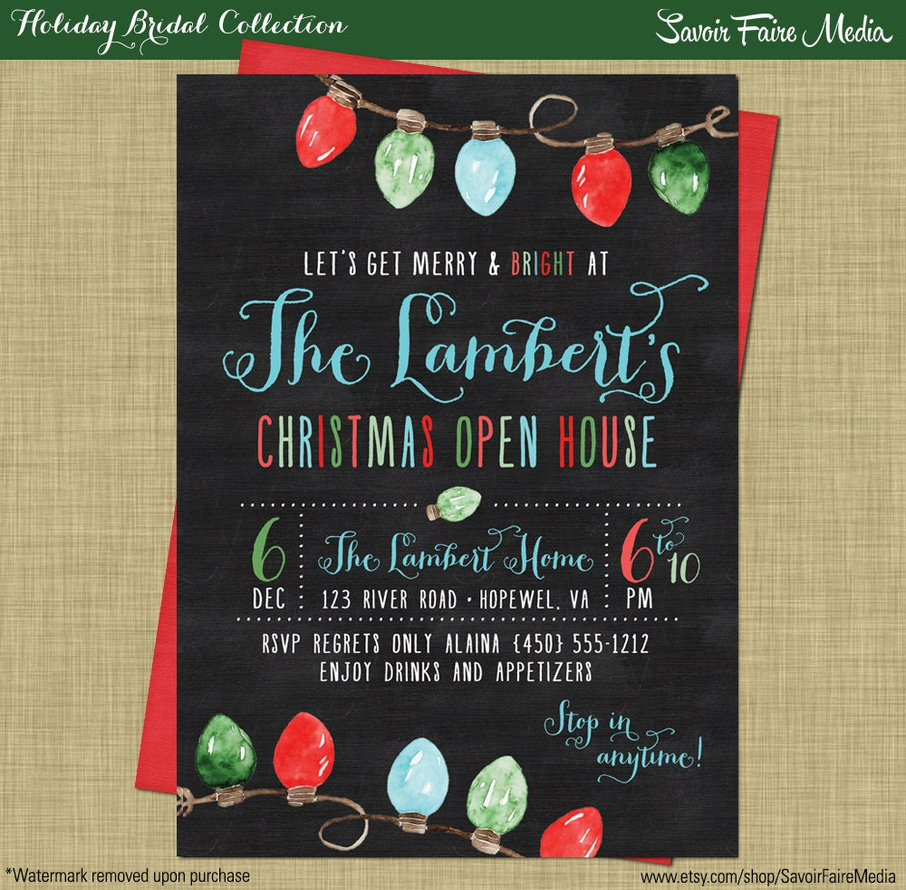 Christmas open house holiday party