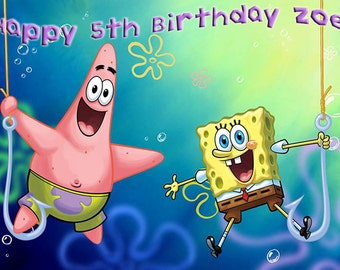 Sponge Bob  Cake Topper with FREE Personalization