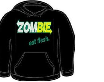 zombie eat flesh hoodies zombies hoodie