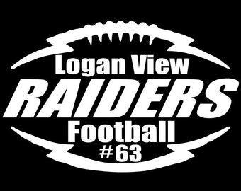 Custom Made ~Your Favorite Football Team Window Decal ~ Choose Decal Color