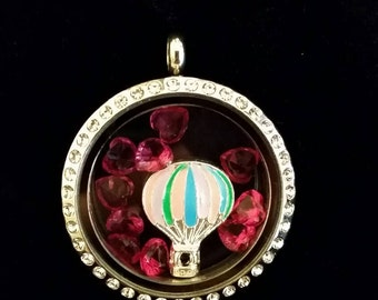 Large Hot Air Balloon floating charm fits Origami Owl lockets