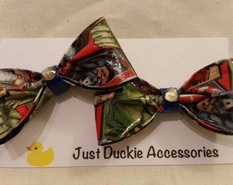 Avengers Duck Tape Hair Bows, bobby pin pair