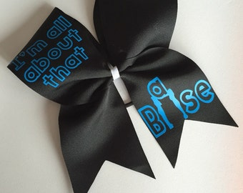 I'm all about that base cheer bow stunt group cheerleading hair bow bass now available in many color combos!