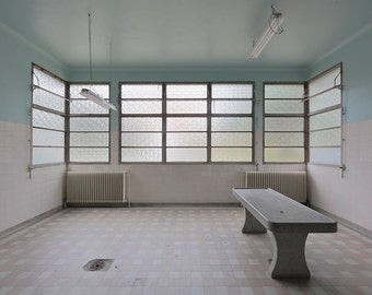 Photography of an abandoned morgue near Paris, France