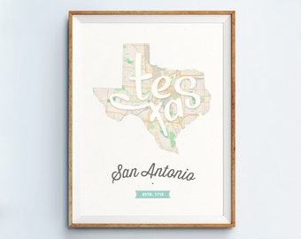 San Antonio Print - San Antonio Art - San Antonio Poster