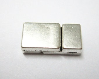 5pcs Flat magnetic clasp 6x2mm leather cord clasp 6mm magnet clasp