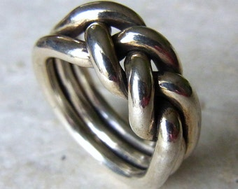 Men silver ring. Male silver ring. Men's modern ring. Braided siver ring. Alternative wedding band for men. Silver band. Heavy mens ring