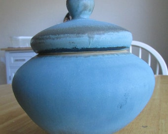 Medium One Of A Kind, jar with a blue color palette. #4