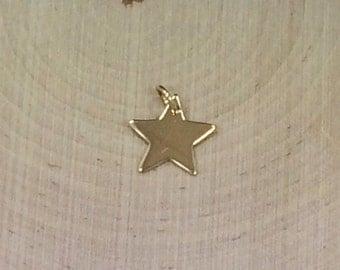 Bronze Star Charm, Star Pendant, Star Charm, Star Stamping Blank, Celestial Charm, Celestial Pendant