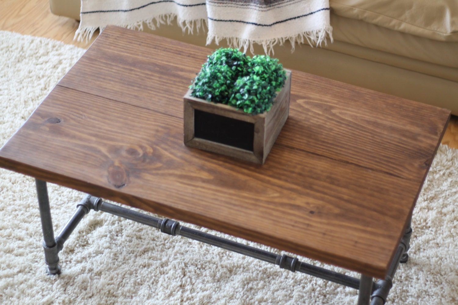 Rustic Industrial Coffee Table Rustic Home Decor Rustic Furniture Industrial Furniture