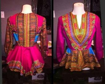 High low Dashiki blouse.