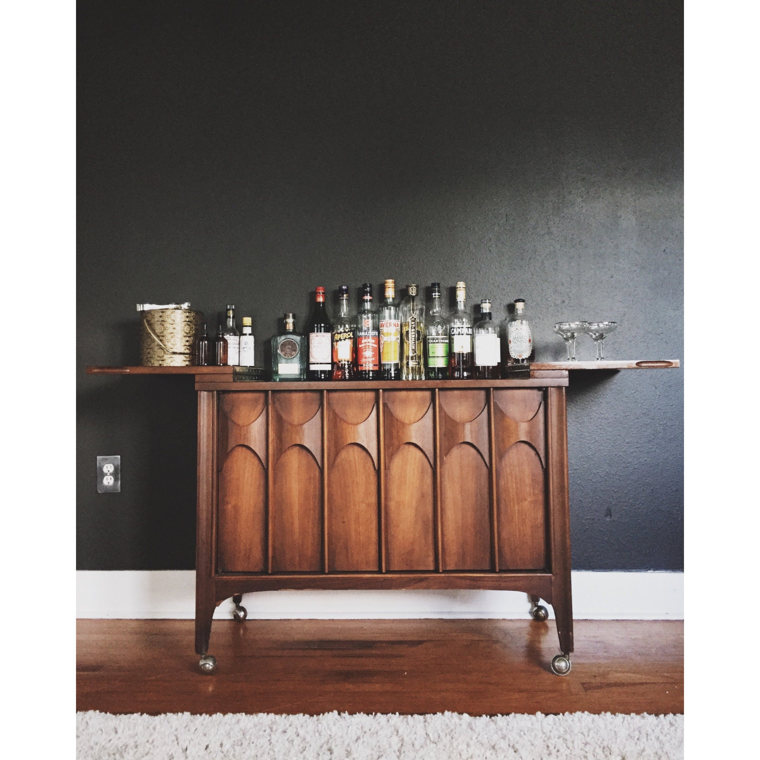 Mid Century Bar And Liquor Cabinet By Kent Coffey Perspecta