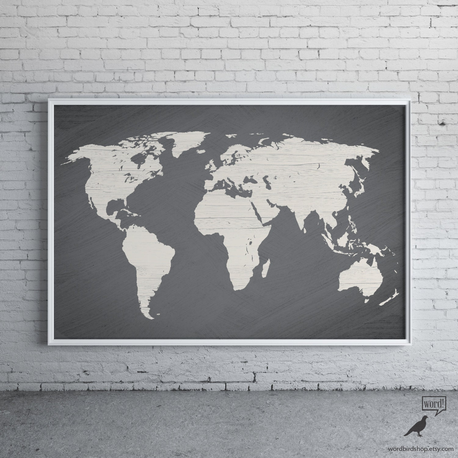 Large World Map Etsy - Ikea world map sale