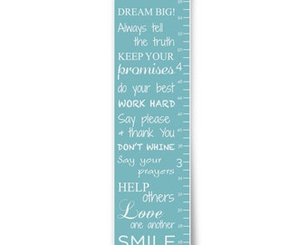 Dream Big in Blue Personalized Growth Chart