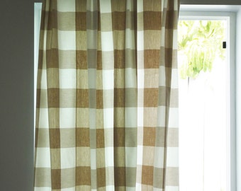 Popular Items For Plaid Curtains On Etsy