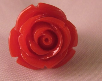 Rose Lapel Pin - Red - Men's Accessories- Everyday/Weddings/Proms