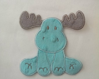 Moose Sew-On Patch | Moose Patch | Baby Moose Patch | Moose Applique