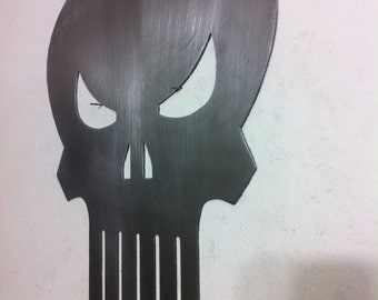 The Punisher metal wall art