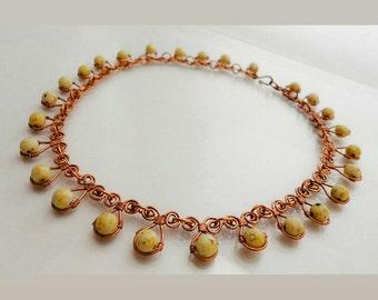 Colette Copper & Czech Bead Necklace