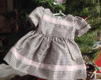 Beautiful Bleuette Handmade Doll Dress
