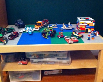 "Lego table 35"" by 21"" with storage shelf(custom color options)"
