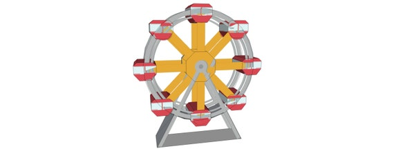how to make a ferris wheel with cardboard