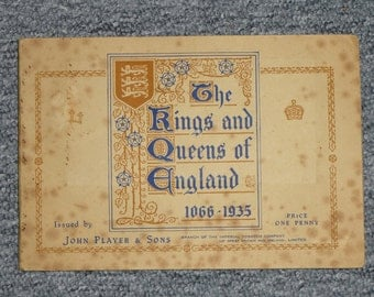 British Cigarette Card Set (Full Set of 50 Cards) - Kings and Queens of England by John Player & Sons Cigarettes.