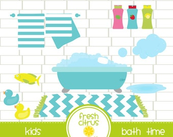 Bath Time Clip Art Kids