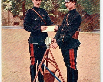 Old British Postcard - Tucks Military Series of 1903 - 2nd Life Guards. Signallers