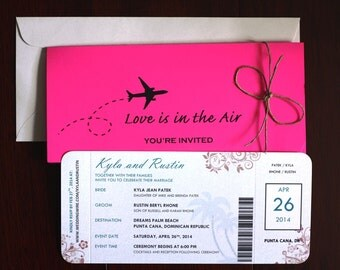 Reception Ticket Etsy