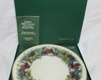 Lenox China Christmas Plate - 1982