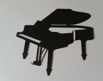 Laser Cut Piano Silhouette Die Cut Outs!