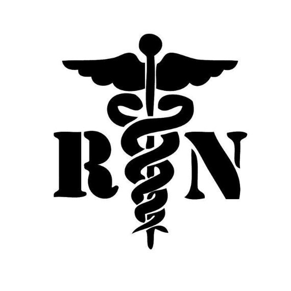 Registered Nurse Caduceus Vinyl Decal For You Yeti Cup Car