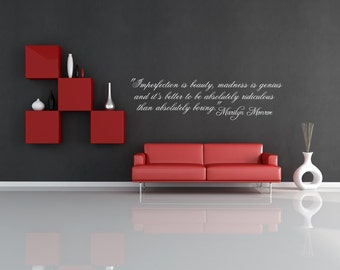 Famous Marilyn Monroe Quote Wall Decal