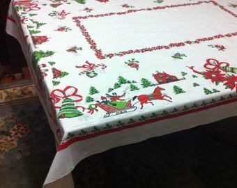 Christmas in the snow tablecloth