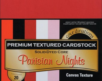Core'dinations Cardstock Pack. 12x12 Parisian Nights (reds and pinks)