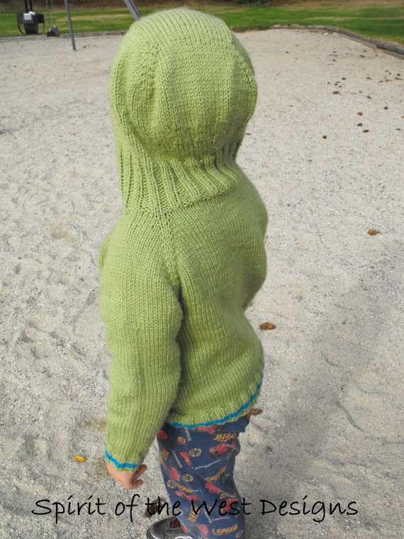 Kangaroo Hoodie Knitting Pattern : Knitting Pattern Hoodie Top Down Hooded Sweater Kangaroo ...