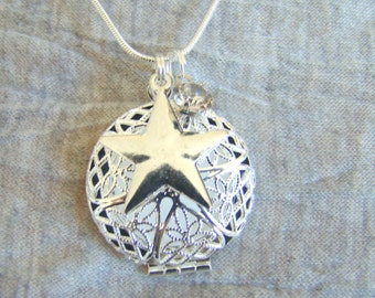 Shine On Essential Oil Diffuser Necklace, Aromatherapy Necklace, Star Necklace
