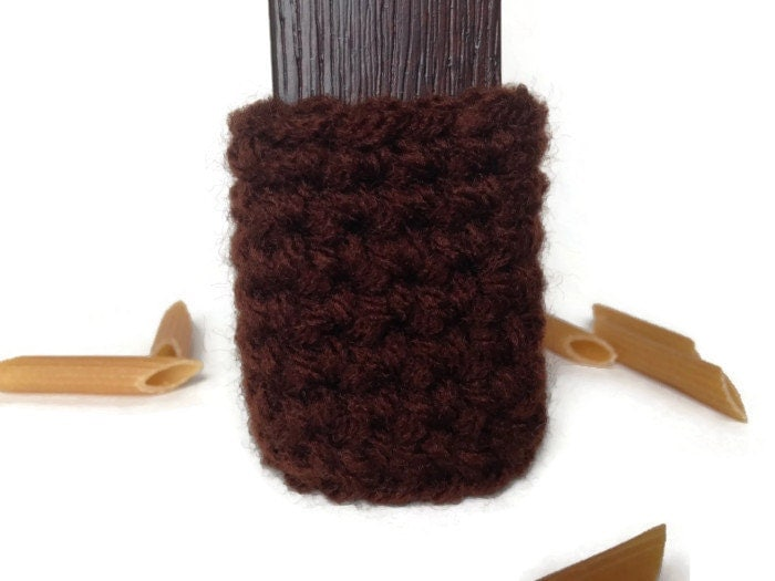 Brown Crochet Arm Chair Socks Table Legs Cover Protection