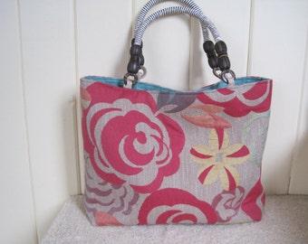 Bamboo Floral Handbag/tote