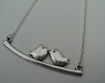Two Birds on a Branch Necklace