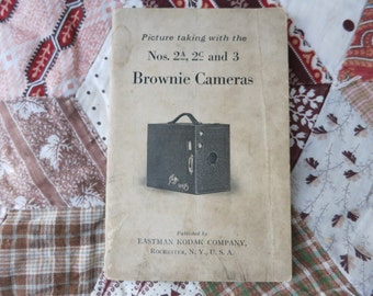 1923 Brownie Camera Manual Pamphlet Kodak Vintage